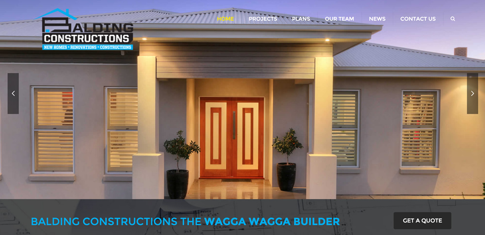 New Website Wagga Builder Balding Constructions
